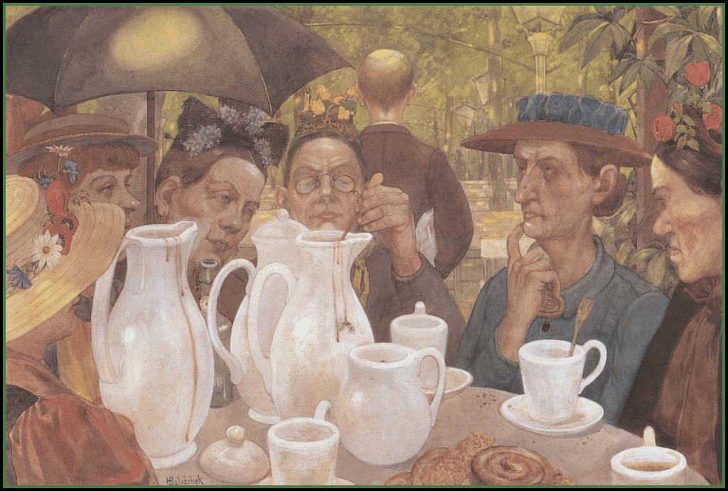 1895 Baluschek Kaffeekochen